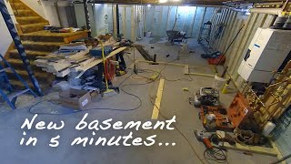 Basement Renovation Timelapse - 1 Year In 5 Minutes!
