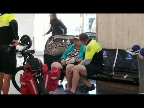 lax airport police on a woman who woman claims to be pregnant LAFD cycle team on the way