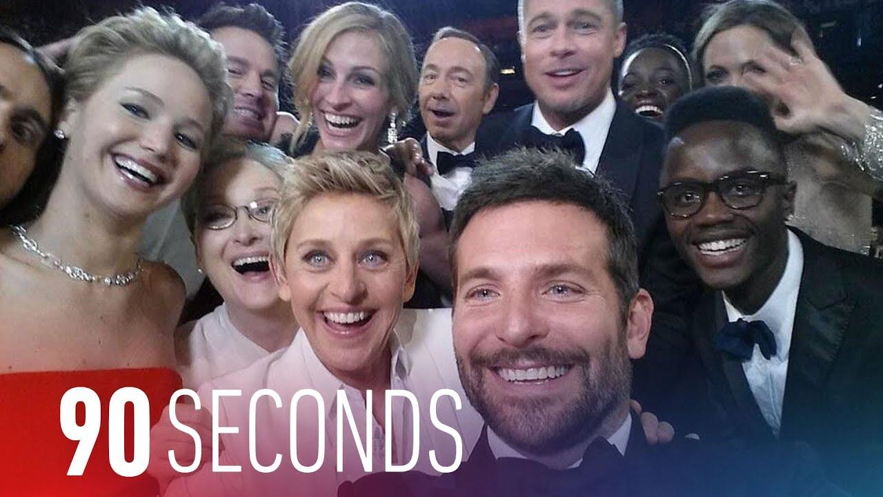 Ellen's Oscars 2014 selfie sets Twitter records: 90 Seconds on The Verge thumbnail