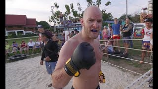 Finland Bodyguard  vs Muay Thai Fighter !!!