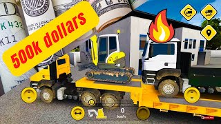 Bau Construction Simulator - Android ios Mobile Gameplay With Overloaded Trailer