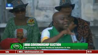 Abia Gov'ship Election: Alex Otti Campaigns In Ikwano, Umuahia North LGAs