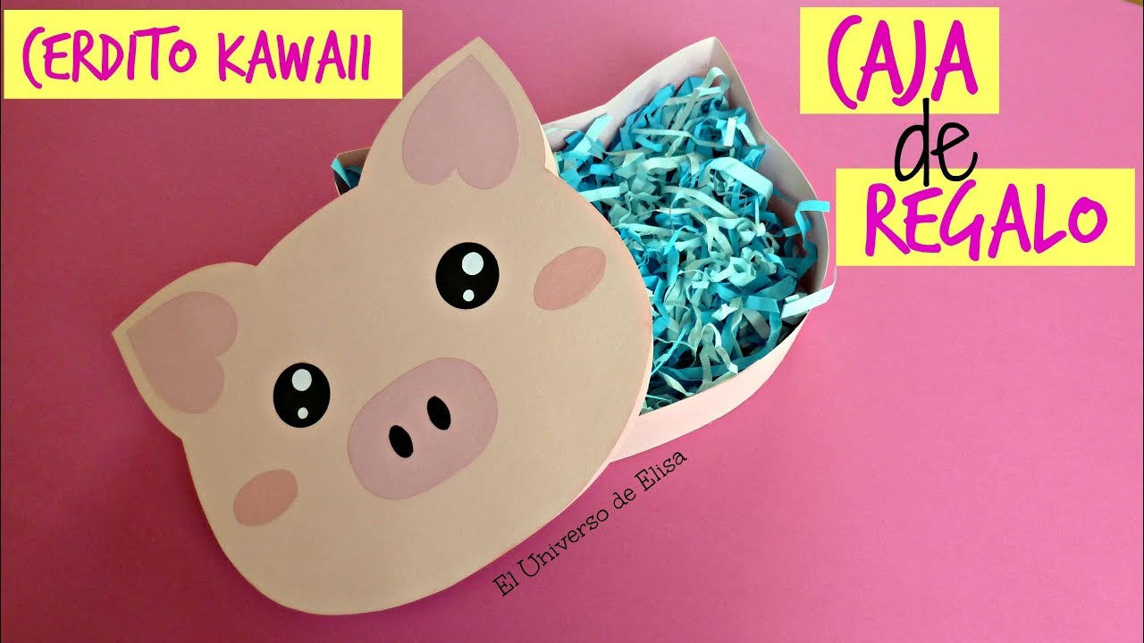 Caja de Regalo Cerdito Kawaii, Manualidades Kawaii, Kawaii Crafts, Little Kawaii Pig