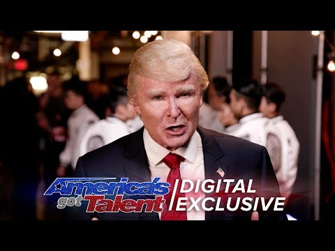 Elimination Interview: The Singing Trump Thanks His Voters - America's Got Talent 2017 (видео)