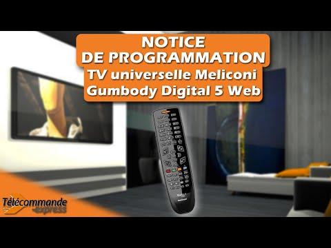 Programmer une télécommande TV universelle Meliconi Gumbody Digital 5 Web