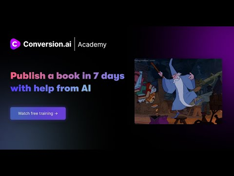 Publish a book in 7 days with Conversion.ai