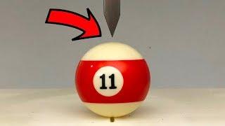 EXPERIMENT HYDRAULIC Guillotine 100 TON vs Billiard ball