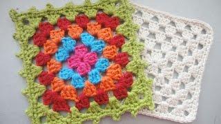 "Бабушкин квадрат ""Grandmother"" square Crochet"