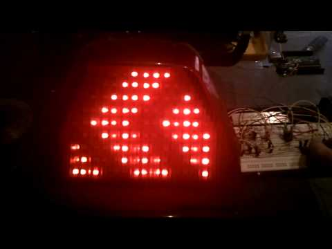 Homemade DIY Integrated Motorcycle LED Tail Light