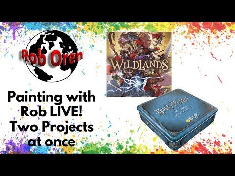 Painting with Rob Live- Two Projects At Once!