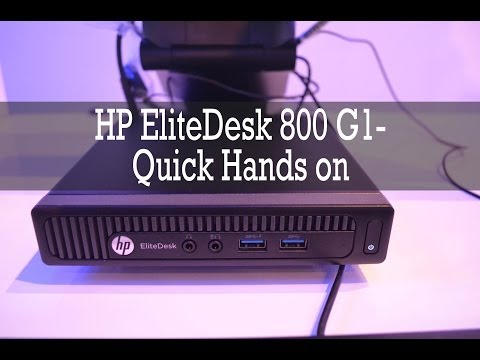HP EliteDesk 800 G1- Smallest Desktop PC from HP
