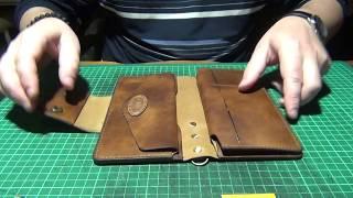 Кожаный кошелёк ручной работы. С размерами и пояснениями!