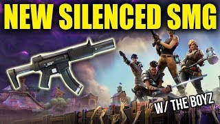 NEW SILENCED SMGS! GETTING W's WITH THE BOYZ! - Fortnite Battle Royale