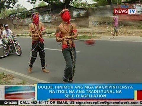 [GMA] BP: Duque, hinimok ang mga magpipinitensya na itigil na ang tradisyunal na self-flagellation