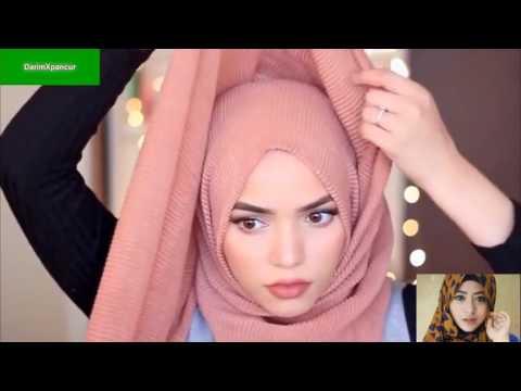 Video Tutorial hijab style pashmina tanpa jarum