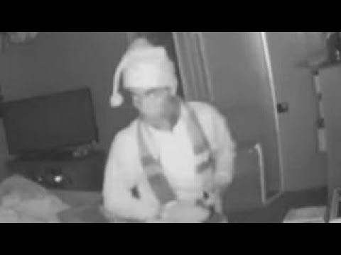 'Santa' burglary suspect caught on camera