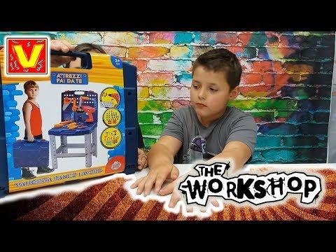 ATTREZZI FAI DA TE PER BAMBINI - giochi educativi - costruisci  con la tua valigetta di attrezzi
