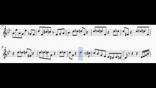 Ella Fitzgerald - All of me (Scat singing transcription) - Scrolling version