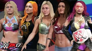 WWE 2K17 Creations: 5 UPDATED Women's Attires! (PS4)