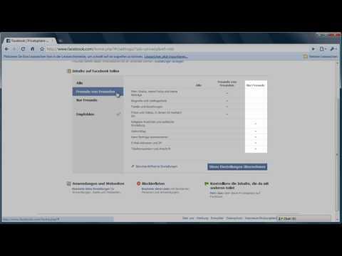 Privatsphäre schützen in Facebook
