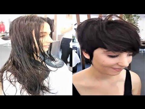 Amazing haircut long hair to pixie cut women | Professional Haircut Transformation 2020
