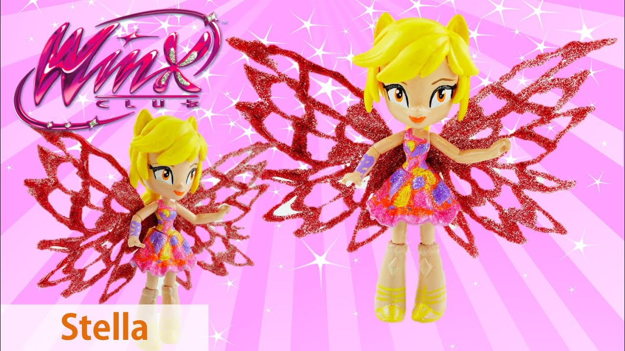 Princess STELLA of Winx Club Butterflix Doll Custom from Equestria Girls Mini Doll Tutorial DIY