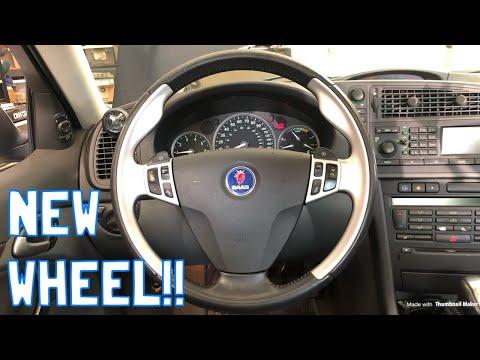 Saab 9-3 Aero Steering Wheel Install!