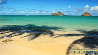 preview picture of video 'Lanikai Beach Cove in the Afternoon Long'