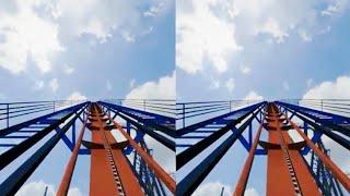 Roller Coaster SBS 3D VR Cedar Point [Google cardboard 360 video VR]