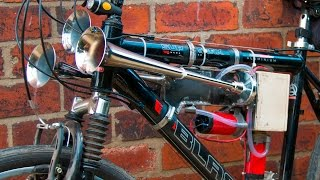 Homemade 153db super loud bicycle air horn