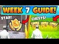 Fortnite WEEK 7 CHALLENGES! - Secret Battle Star, Secret Chests (Battle Royale Season 9 Guide)
