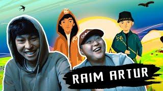 РЕАКЦИЯ!!! RaiM & Artur смотрят свой клип LATTE