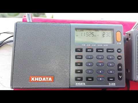 XHDATA D-808 & RADIWOW R-108 11925 KHz Voice of Turkey TESTS (new freq.)