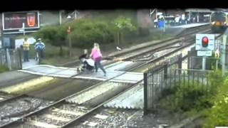 More moments of madness at UK\'s level crossings