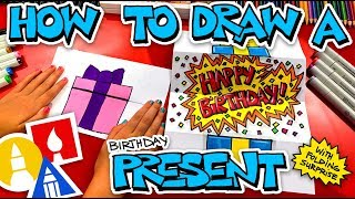 How To Draw A Birthday Present Folding Surprise