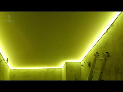 Satynowy podświetlany sufit
