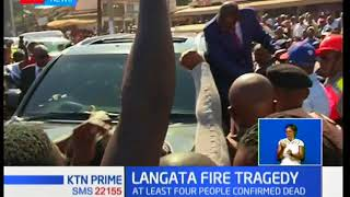 One out of the four bodies of the victims of fire at Kijiji slums in Langa'ata identified