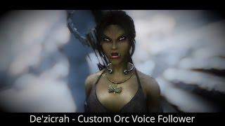 Skyrim mod spotlight 2016. De'zicrah - Custom Orc Voice Follower. [60FPS|1080p]
