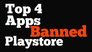 Top 4 banned apps from play store|| Tubemate || Xtunes ||👍👍