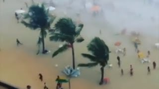 Waterspout Hits Crowded Beach Brazil Mar 2015