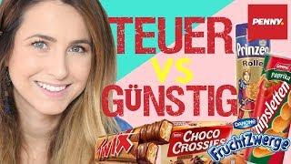 Geschmackstest NoName Vs Markenprodukte I Günstig vs Teuer I  PENNY Süßigkeiten