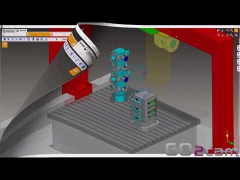 Multiple Parts Machining von GO2cam