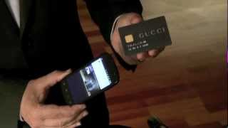 WISekey NFC Android Anti Counterfeiting Tech for Luxury Bags GUCCI demo.mov