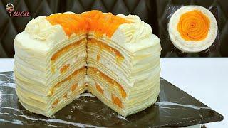 [ENG SUB] 芒果千层蛋糕 |免烤食谱 How To Make Mango Crepe Cake | No Bake Recipe