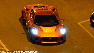Jaguar C-X75 vs Aston Martin DB10 - Filming James Bond 007 Spectre Movie