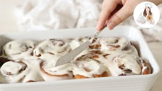 no yeast cinnamon rolls with brown butter cream cheese frosting