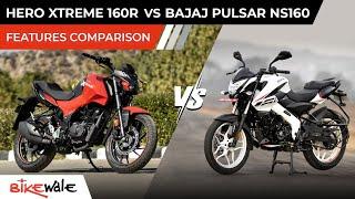 2021 Hero Xtreme 160R Vs Bajaj Pulsar NS160 BS6 | FEATURES COMPARISON | Buying Guide | BikeWale