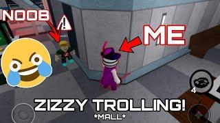 TROLLING AS ZIZZY IN PIGGY CHAPTER 10 (MALL) | Roblox | T0RNADO