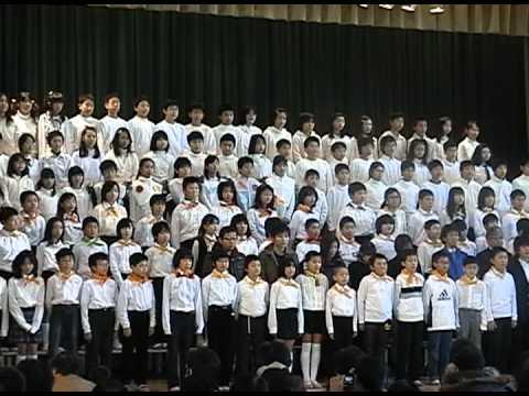 『青い大地に夢は始まる』仙台市立七北田小学校 学習発表会にて