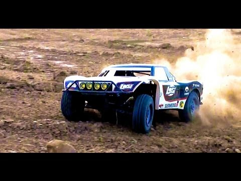 RC ADVENTURES - BASHING A LOSI 5ive T (5T) 4WD Short Course Off Road Truck - Gas Powered